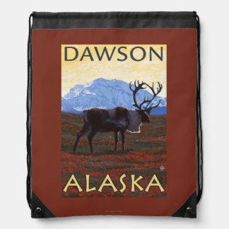 Caribou Scene - Dawson, Alaska Backpacks