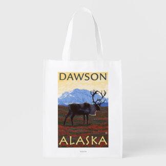 Caribou Scene - Dawson, Alaska Market Tote