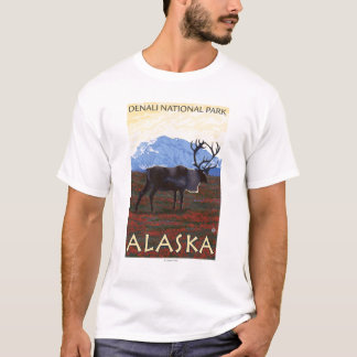 Caribou Scene - Denali National Park, Alaska T-Shirt