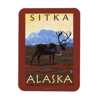 Caribou Scene - Sitka, Alaska Rectangular Photo Magnet