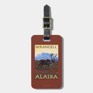Caribou Scene - Wrangell, Alaska Bag Tags