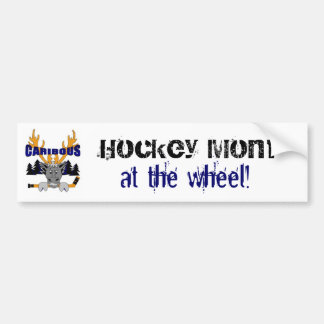 Caribous Hockey Mom bumper sticker