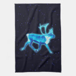 Caribú azul (reno) toalla