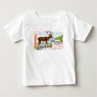 Caribú del vintage (reno) y Fox ártico T-shirt