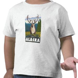 Caribú en el salvaje - el Yukón, Alaska Camiseta