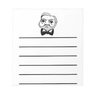Caricatura Andrew Carnegie Libretas Para Notas