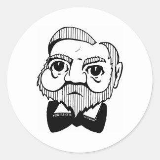 Caricatura Andrew Carnegie Pegatina Redonda