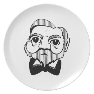 Caricatura Andrew Carnegie Platos Para Fiestas