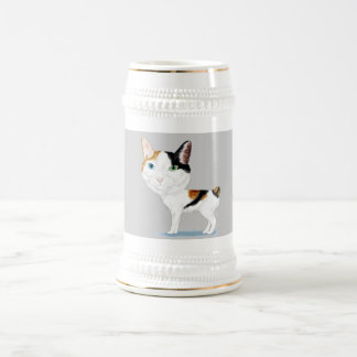 Caricatura Bobtail japonesa Jarra De Cerveza