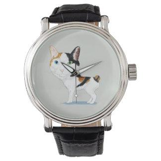 Caricatura Bobtail japonesa Reloj
