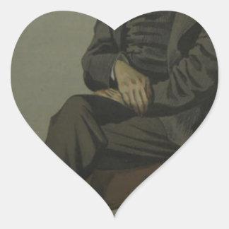 Caricatura de Alexander Baillie Cochrane M.P. Pegatina En Forma De Corazón