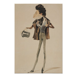 Caricatura de Alexander Dumas Pere Poster