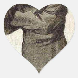 Caricatura de Anthony Juan Mundella James Tissot Pegatina En Forma De Corazón
