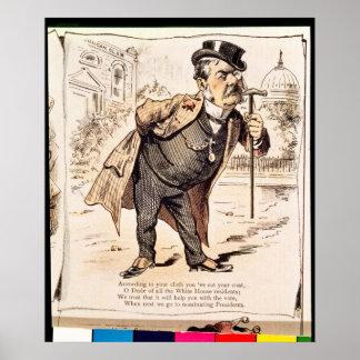 Caricatura de Chester Alan Arthur c 1883 Poster