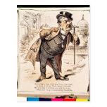 Caricatura de Chester Alan Arthur, c.1883 Tarjeta Postal