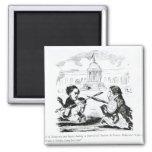 Caricatura de Delacroix y de Ingres Imán Cuadrado