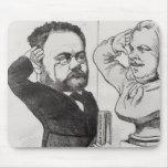 Caricatura de Emile Zola Tapete De Ratón