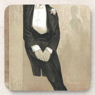 Caricatura de Federico Leighton de James Tissot Posavasos De Bebida