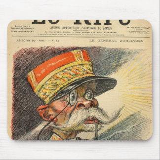 Caricatura de general Zurlinden Tapete De Raton