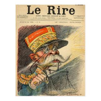 Caricatura de general Zurlinden Postal