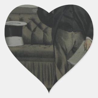 Caricatura de George Cavendish Bentinck de James Pegatina En Forma De Corazón
