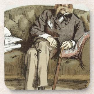 Caricatura de George Whyte Melville James Tissot Posavasos