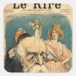 Caricatura de Henri Brisson, Pegatina Cuadrada