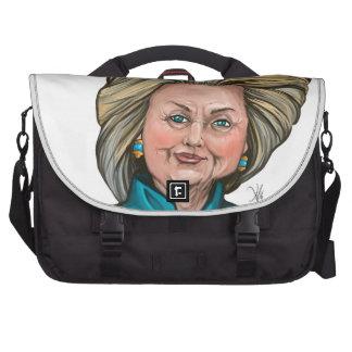 Caricatura de Hillary Clinton Bolsas Para Ordenador