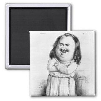 Caricatura de Honore de Balzac Imán Cuadrado