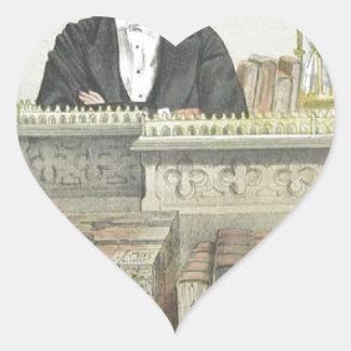 Caricatura de Juan George Dodson M.P. James Tissot Pegatina En Forma De Corazón