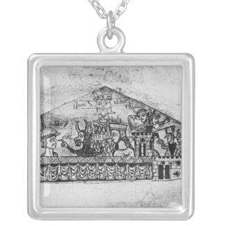 Caricatura de judíos ingleses, de un Haggadah Collar Plateado