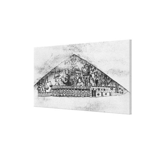 Caricatura de judíos ingleses, de un Haggadah Impresión En Lona