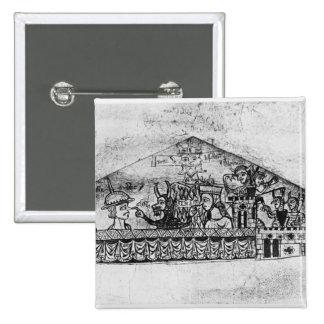 Caricatura de judíos ingleses, de un Haggadah Pin Cuadrado