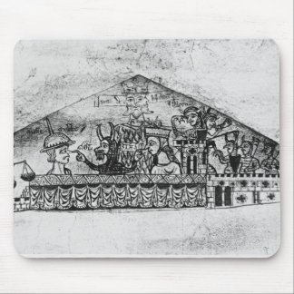 Caricatura de judíos ingleses, de un Haggadah Tapete De Ratón