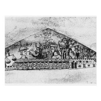 Caricatura de judíos ingleses, de un Haggadah Tarjetas Postales