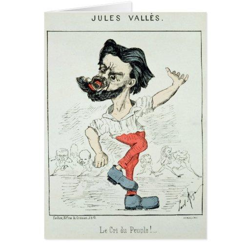 Caricatura de Julio Valles Tarjeta De Felicitación