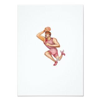 """Caricatura de Jumpshot del jugador de básquet Invitación 4.5"""" X 6.25"""""""