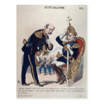 caricatura de Kaiser Wilhelm de Prusia Postal