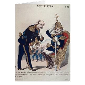 caricatura de Kaiser Wilhelm de Prusia Tarjeta De Felicitación