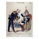caricatura de Kaiser Wilhelm de Prusia Tarjetas Postales