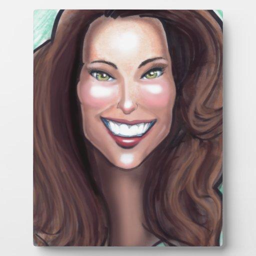 Caricatura de Kate Middleton Placa