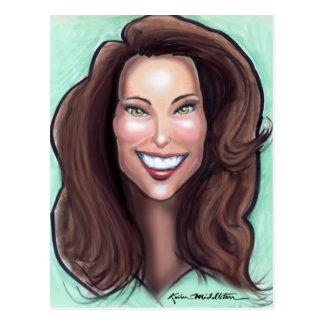 Caricatura de Kate Middleton Tarjeta Postal