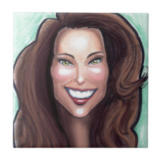 Caricatura de Kate Middleton Teja Cerámica