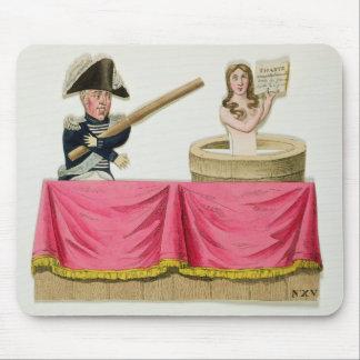 Caricatura de la carta constitucional alfombrillas de ratón