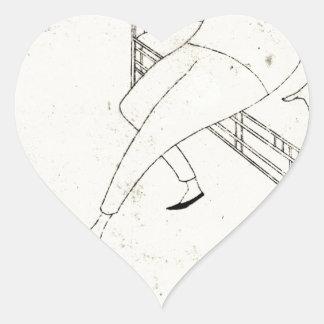 Caricatura de la marmota de James McNeill de Pegatina En Forma De Corazón