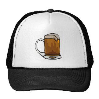 Caricatura de la taza de cerveza gorro de camionero