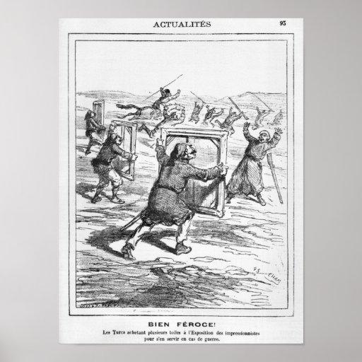 "Caricatura de ""Le Charivari' Poster"