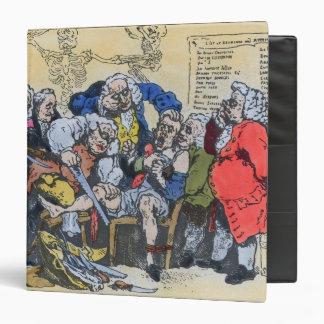 """Caricatura de los cirujanos georgianos en el carpeta 1 1/2"""""""