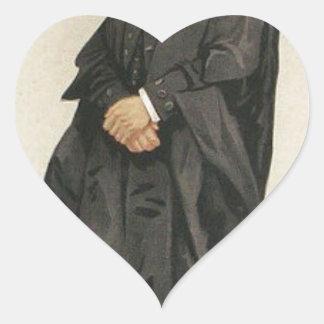 Caricatura de los estadistas No.1290 del Rt Hon Pegatina En Forma De Corazón