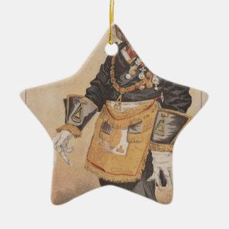 Caricatura de los estadistas No.370 de Thomas Adorno Navideño De Cerámica En Forma De Estrella